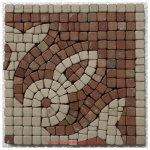 "Lane, Honed Mosaic Tile Listello Corner 5.875"" x 5.875"""